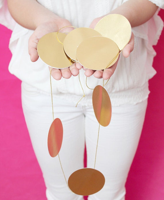Gold dot maxi garland