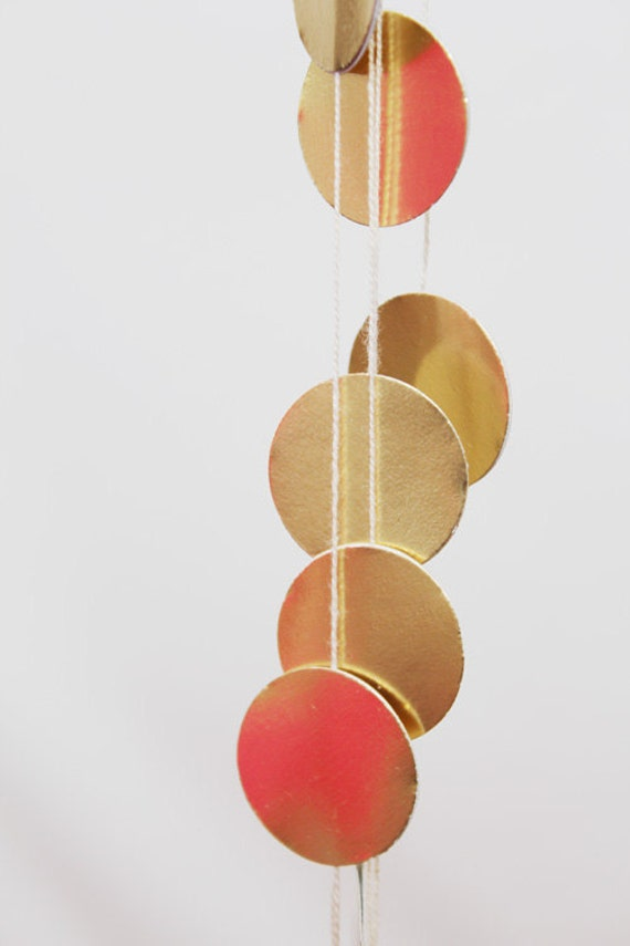 Gold dot garland
