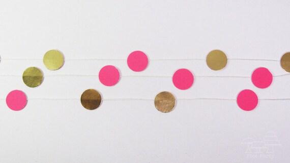 Neon gold dot mini garland for Gold dot garland