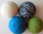 wool dryer balls eco friendly laundry earth happy handmade goodness cool colors