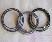 Leather wrapbracelet 2mm with magnetic lock