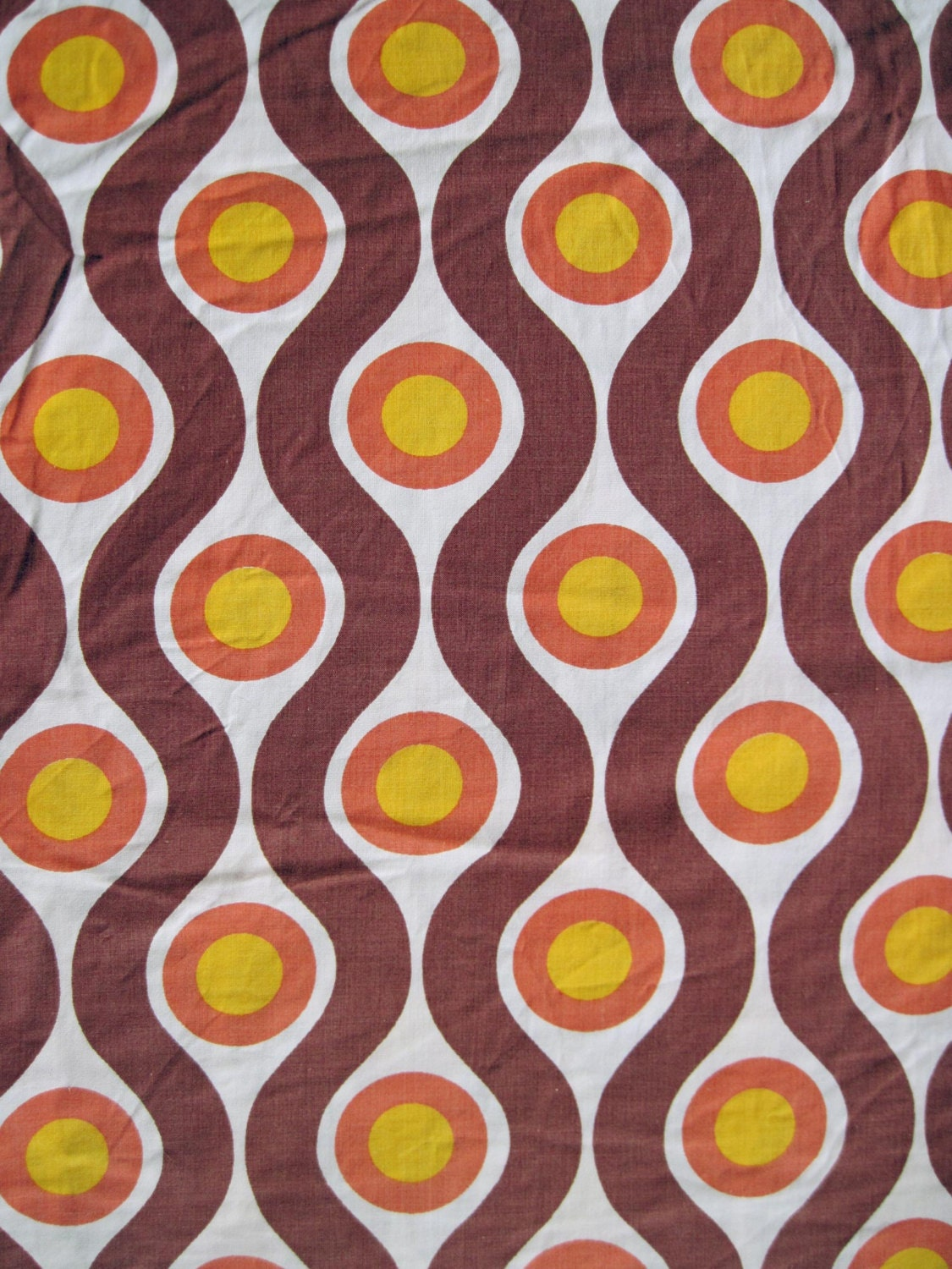 Vintage 1960s 70s fabric retro geometric pattern from germany for Retro fabric
