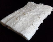 White Baby Blanket with Bobble detail
