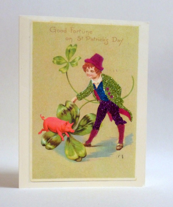 St Patricks Day Lucky Pig Card