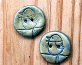 Audubon Button - Bluebirds, set of 2