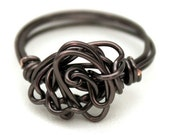Dark Passenger -  Wire Wrapped Ring - Size 8  - READY to SHIP
