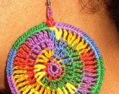 Rainbow Crochet Earrings