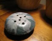 vintage art pottery flower frog