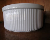 Dansk porcelain soufle bowl white