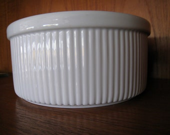 Dansk porcelain soufle bowl white