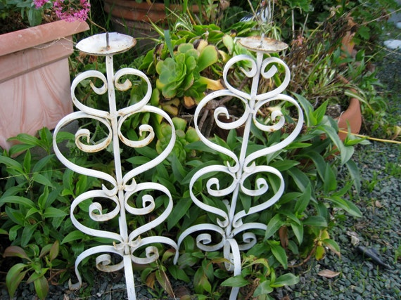 vintage spanish wrought iron candle holders or sconces