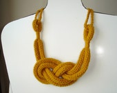 mustard yellow necklace and bracelet, neckwarmer,scarf