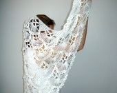 SALE&SALE.....Wool triangle shawl for weddin, scarf,