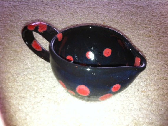 Black and Red Creamer- reserved for Lizzie