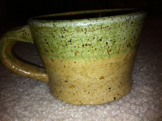 Beige and Green Mug