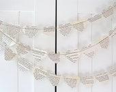 Vintage Romance Novel Garland - 10ft Long - Wedding Day Decor, Bridal Shower Decor, Romance Novel, Heart Decoration