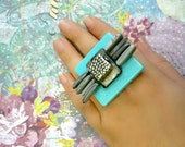 Truffle rings collection . Turron Turquoise Ring