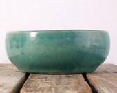 Turquoise Glazed Pottery Bowl
