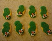 Edible Fondant Caterpillar Cupcake Toppers