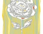 "Print of an Original Drawing: ""Morning Bloom"""