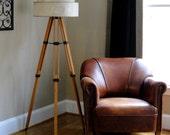Vintage Tripod Lamp Retro Mid-Century Modern Industrial Eames Era  Floor and Table Lamp