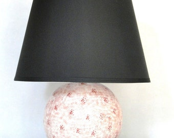 Vintage Pair Sphere Lamps 1972 Retro Lighting Eclectic Atomic Age Home Decor Retro Raspberry Mother's Day Pink Mid Century Mod Lamps