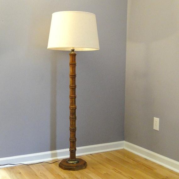 Antique Floor Lamps: Vintage Floor Lamp Bamboo Inspired Lighting Mid Century Modern