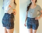 retro cosby sweater, 80s high waisted shorts