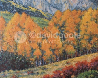 Autumn Color Colorado. Photography Print of painting 8x10 Fine Art Southern Colorado Landscape