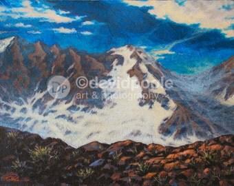 Snow Mountain, Glacier National Park, Montana. Photography Print of painting 8x10 Fine Art Montana Landscape