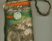 SALE Sunset -- wet felted bag WAS 45 NOW