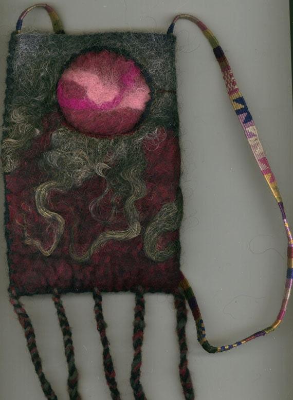 Aurora - wet felted bag