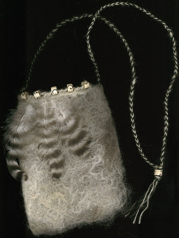 In The Clouds - wet felted bag