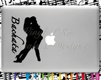 Bachata Dance Decal Latin Dancer Latina Bailando Dominican Club Dancing Sticker For Macbook or Car Window