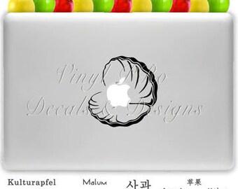Ocean Sea Clam Apple Pearl Beach Sand Decal for Macbook