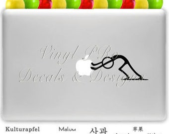 Pushing Man Decal for Macbook