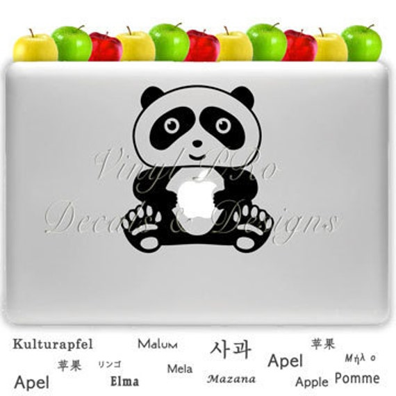 Zoo Panda Animal Lover Decal For Apple Macbook