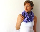 Up-cycled Purple Circle Scarf - Leopard Print Scarf - Spring Fashion - Purple Infinity Scarf - Loop Scarf