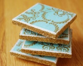 2x2 Tile Magnets with Glitter Accent