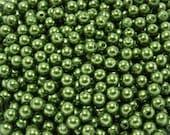 120 pcs Acrylic Pearls - Olive Green 5mm