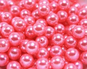 24 pcs Acrylic Pearls - Bubblegum Pink 10mm