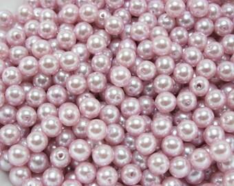 100 pcs Acrylic Pearls - Lilac 6mm