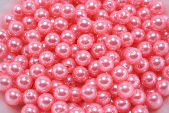 50 pcs Acrylic Pearls - Bubblegum Pink 8mm