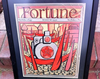 Complete March 1932 Fortune Magazine / Diego Rivera Cover Illustration