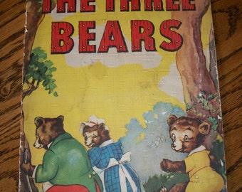 Vintage Book, The Three Bears (Goldilocks) Paper Ephemera