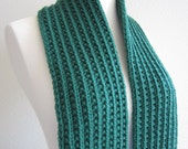 Potion Green Hand Knit Scarf