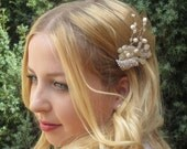 Gorgeous Ivory and gold Wedding Fascinator