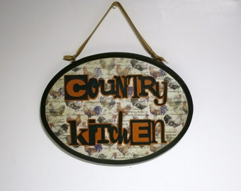 Country Kitchen wall plaque