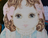 """Adorable vintage stuffed pillow doll. I call her """"Vanessa"""""""