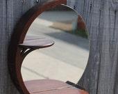 Vintage Deco Circular Mirror and Shelves
